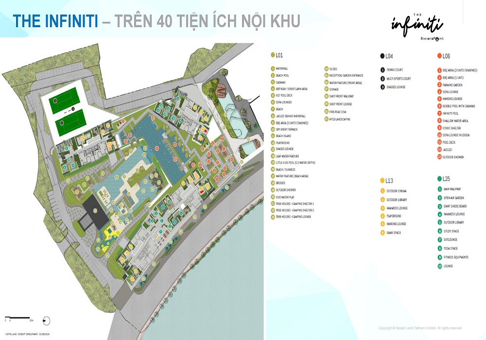tiện ích the infiniti riviera point